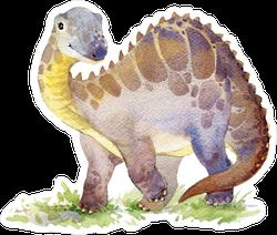 Cartoon Dinosaur Watercolor Illustration Sticker