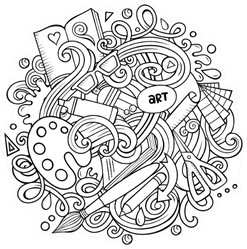Cartoon Doodle Art And Elements Sticker