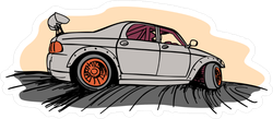Cartoon Drifting JDM Car Sticker