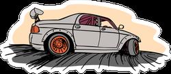 Cartoon Drifting JDM Car Sticker