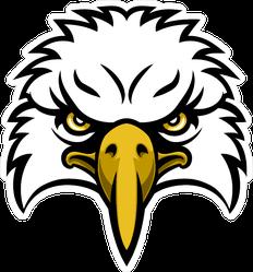 Cartoon Eagle Head Sports Mascot Sticker