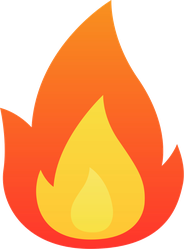 Cartoon Flame Fire Sticker