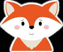 Cartoon Fox Head Sticker