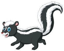 Cartoon Funny Skunk Walking Sticker