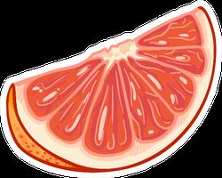 Cartoon Grapefruit Slice Sticker