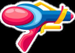 Cartoon Gun Space Blaster Sticker