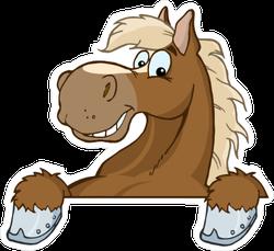Cartoon Horse Sticker