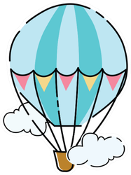 Cartoon Hot Air Balloon Sticker