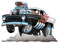 Cartoon Hot Rod Sticker