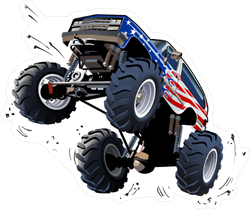 Cartoon Monster Truck Sticker