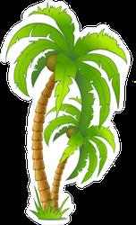 Cartoon Palm Tree Sticker