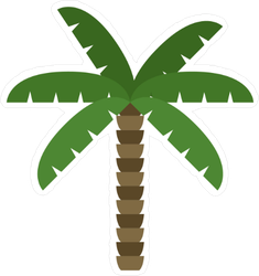 Cartoon Palm Vector Icon Sticker