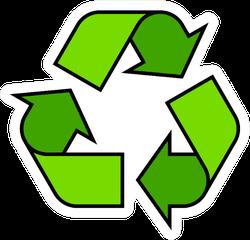 Cartoon Recycling Symbol Icon Sticker