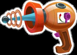 Cartoon Retro Ray Gun Sticker