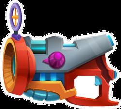 Cartoon Retro Space Laser Bomb Weapon Sticker