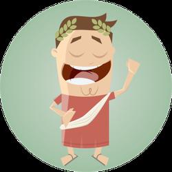 Cartoon Roman Sticker