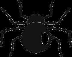 Cartoon Round Spider Sticker