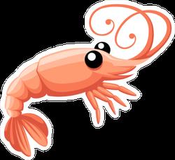 Cartoon Shrimp Sticker