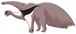 Cartoon Smiling Anteater Sticker