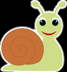 Cartoon Snail Icon Sticker