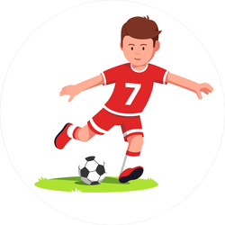 Cartoon Soccer Player Sticker