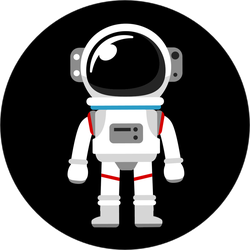 Cartoon Space Suit Sticker