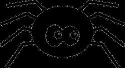 Cartoon Spider With Giant Eyes Sticker