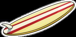 Cartoon Surf Board Sticker