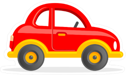Cartoon Toy Car Sticker