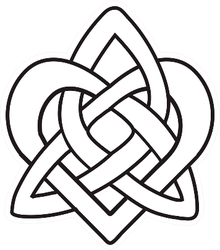 Celtic Heart Knot Black Isolated Silhouette Sticker