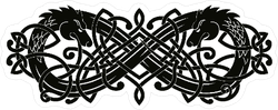 Celtic Intertwined Ribbon Two-headed Dragon Sticker
