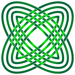 Celtic Knot In Shades Of Green Sticker
