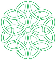 Celtic Shamrock Knot In Circle Sticker