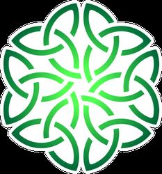 Celtic Shamrock Knot Ombre Circle Sticker