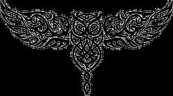 Celtic Style Owl In Flight Sticker