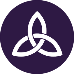 Celtic Trinity Knot On Blue Sticker