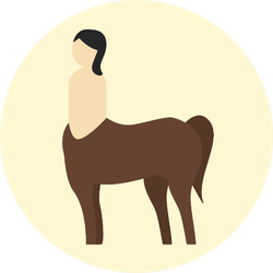 Centaur Icon Sticker
