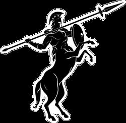 Centaur Spear Aim High Silhouette Sticker