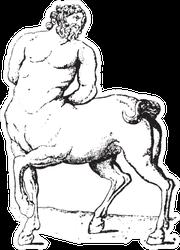 Centaur, Vintage Engraved Illustration Sticker