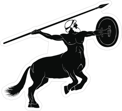 Centaur With A Spear And Shield Sticker