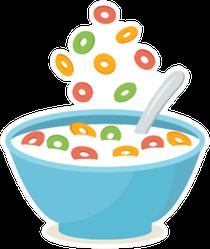 Cereal Bowl With Splash Of Milk Sticker