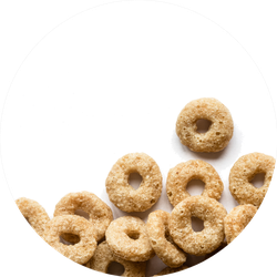 Cereal Rings On A White Background Sticker