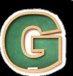 Chalkboard Font Letter G Sticker