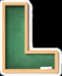 Chalkboard Font Letter L Sticker