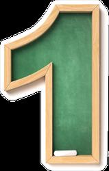 Chalkboard Font Number 1 Sticker