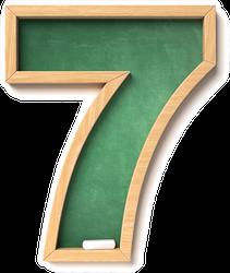 Chalkboard Font Number 7 Sticker