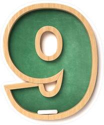 Chalkboard Font Number 9 Sticker