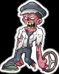 Chauffeur Cartoon Zombie Driver Sticker
