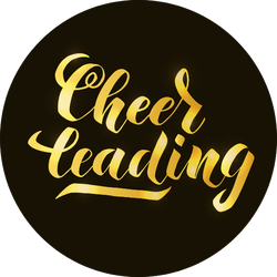 Cheerleading Lettering Sticker
