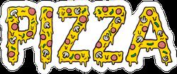 Cheesy Pizza Text Sticker